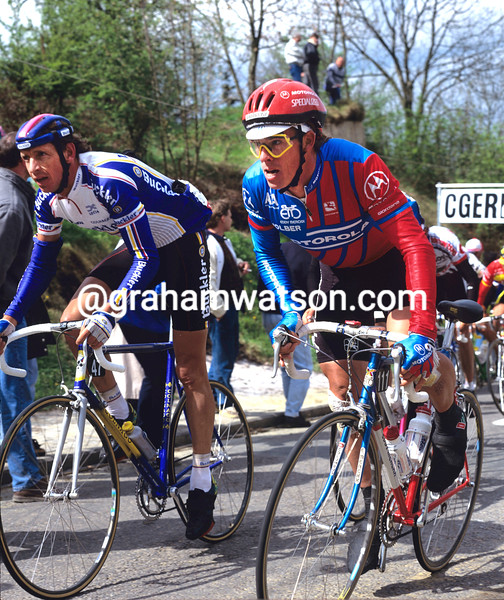 Phil Anderson at the 1992 Fleche Wallonne