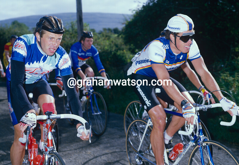 Ron Hayman and Phil Anderson at the 1983 Nissan Classic