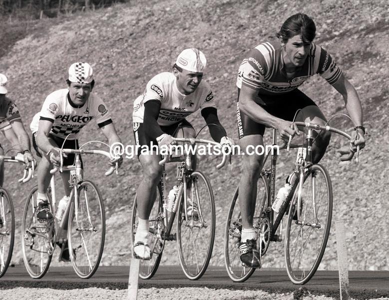 Paul Sherwen and John Herety in the 1984 Paris-Nice