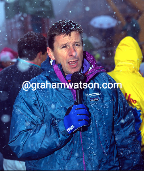 PAUL SHERWEN WORKING FOR TV AT THE 1992 TOUR OF ITALY