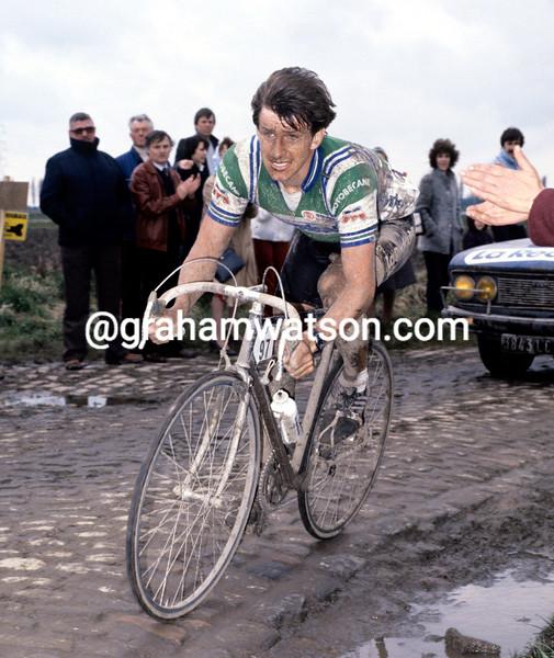 PAUL SHERWEN IN THE 1981 PARIS-ROUBAIX
