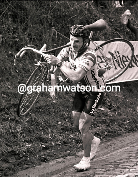 PAUL SHERWEN ON THE KOPPENBERG IN THE 1984 TOUR OF FLANDERS