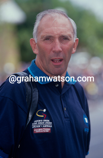 Phil Liggett at the Tour Down Under