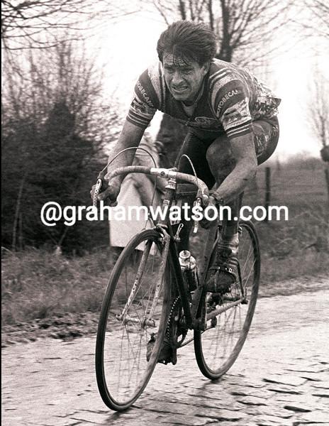 PAUL SHERWEN IN THE 1985 PARIS-ROUBAIX