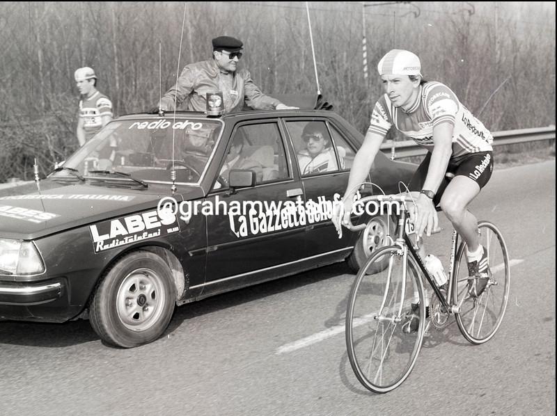 PAUL SHERWEN in the 1983 Milan-San Remo