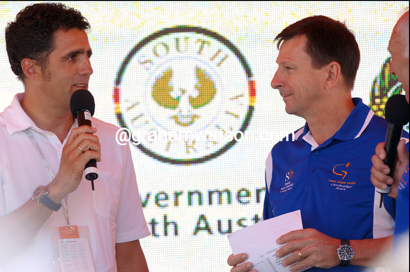 MIGUEL INDURAIN AND PAUL SHERWEN AT THE TOUR DOWN UNDER CLASSIC