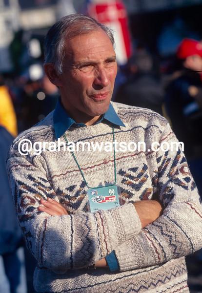 Phil Liggett at the Paris-Roubaix in 1999