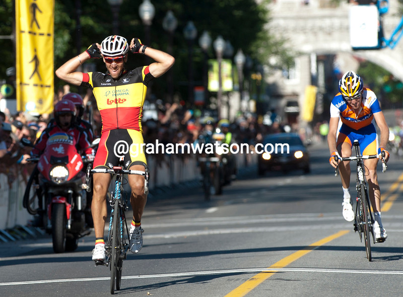 PHILIPPE GILBERT WINS THE 2011 G.P.CYCLISTE DE QUEBEC