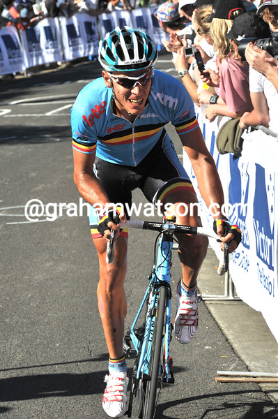 PHILIPPE GILBERT IN THE 2010 WORLD ROAD CHAMPIONSHIPS