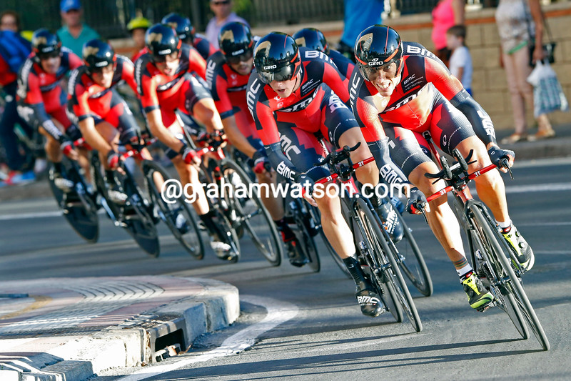 Philippe Gilbert leads BMC in a TTT of the 2014 Tour of Spain
