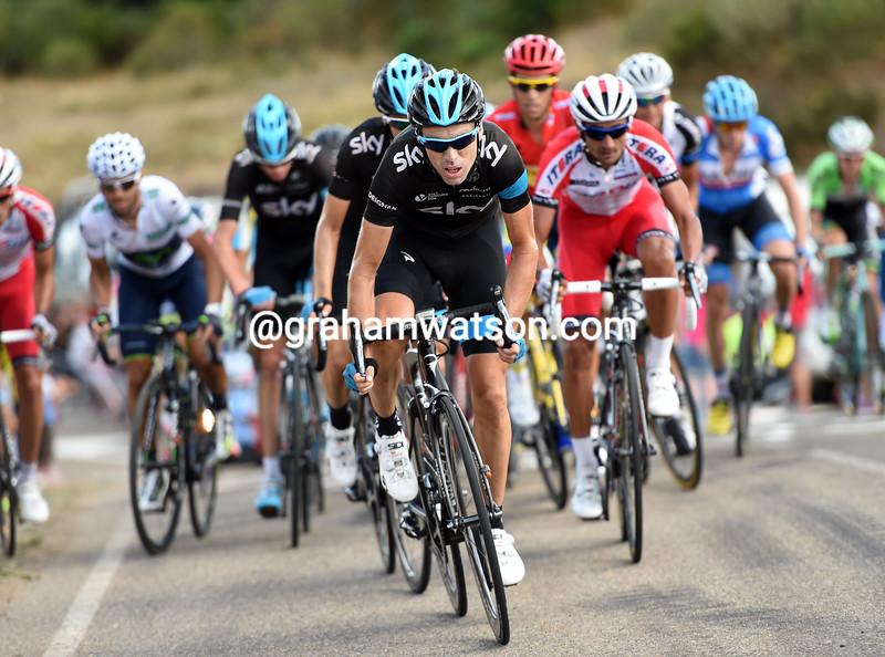Phillip Deignan on stage fourteen of the 2014 Tour of Spain