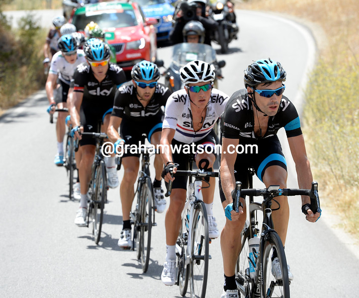 Team Sky paces Sky in the 2014 Tour of Spain
