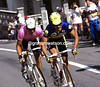PIOTR UGRUMOV AND MIGUEL INDURAIN IN THE 1993 GIRO D'ITALIA