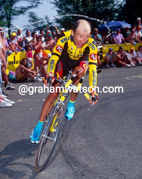 Piotr Ugrumov in the 1996 Giro d'Italia