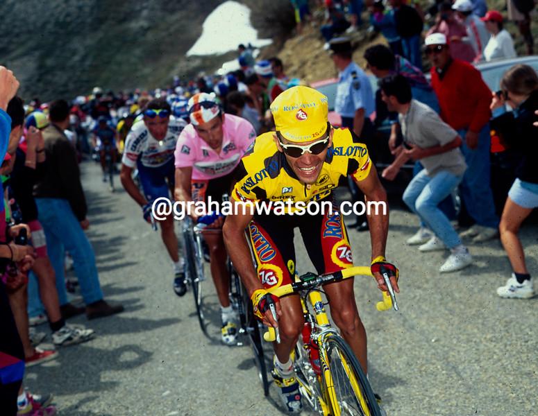 Piotr Ugrumov on a stage of the 1995 Giro d'Italia