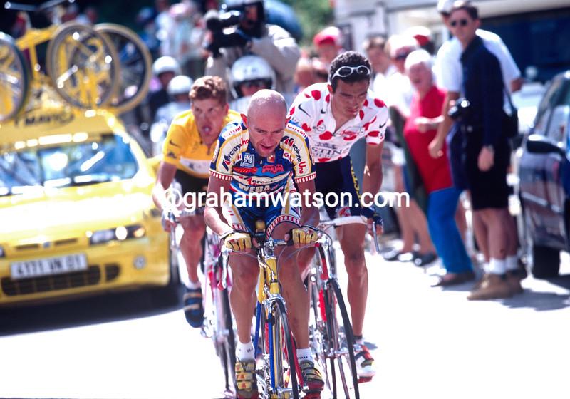 Marco Pantani attacks in the 1997 Tour de France