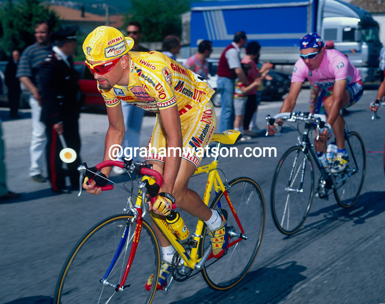 Marco Pantani in the 1996 Giro d'Italia
