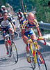 Marco Pantani escapes with Richard Virenque in the 1997 Tour de France