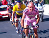Marco Pantani and Lance Armstrong in the 2000 Tour de France