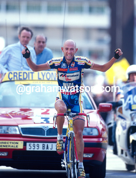 Marco Pantani wins a stage of the 1997 Tour de France