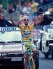 Marco Pantani wins a stage in the 1998 Giro d'Italia