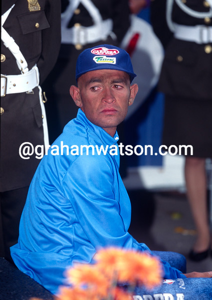 Marco Pantani after the 1995 World Championships