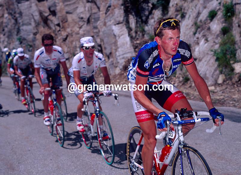 Dariuz Baranoswski in the 1996 Tour de France