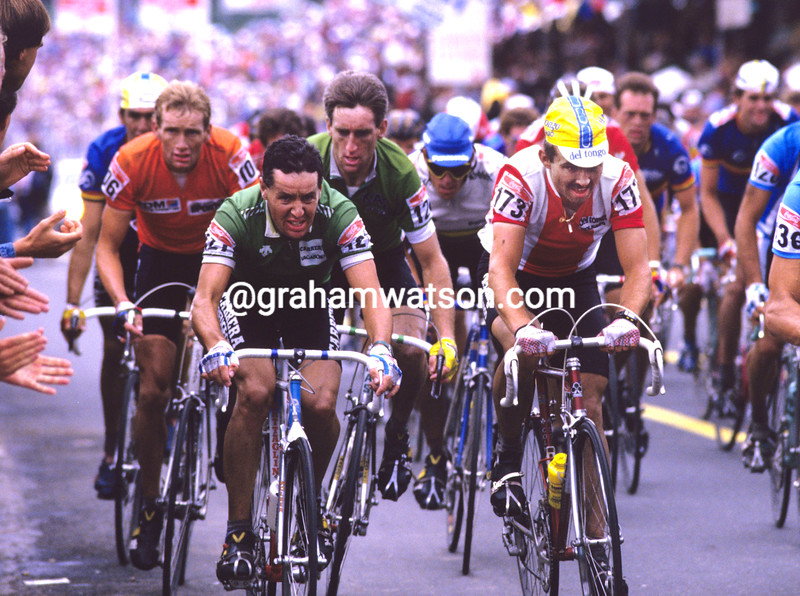 STEPHEN ROCHE  and Lech Piasecki IN THE 1987 WORLD CHAMPIONSHIPS IN AUSTRIA