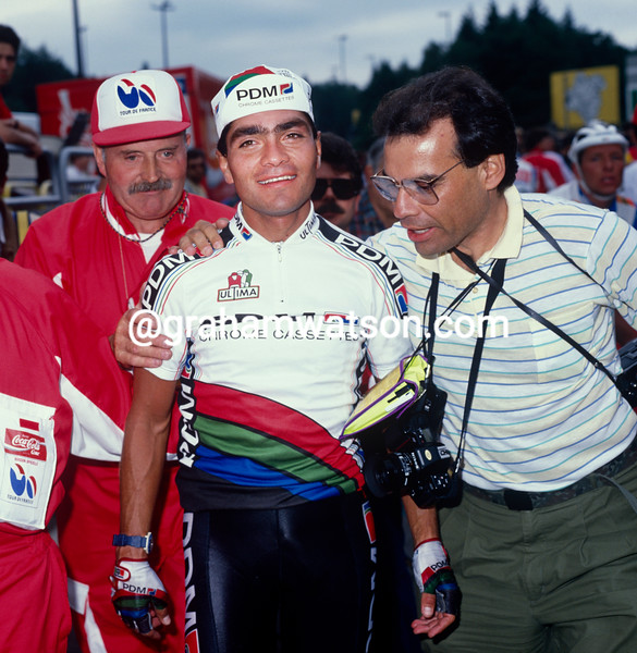Raul Alcala with Chamuko in the 1991 Tour de France