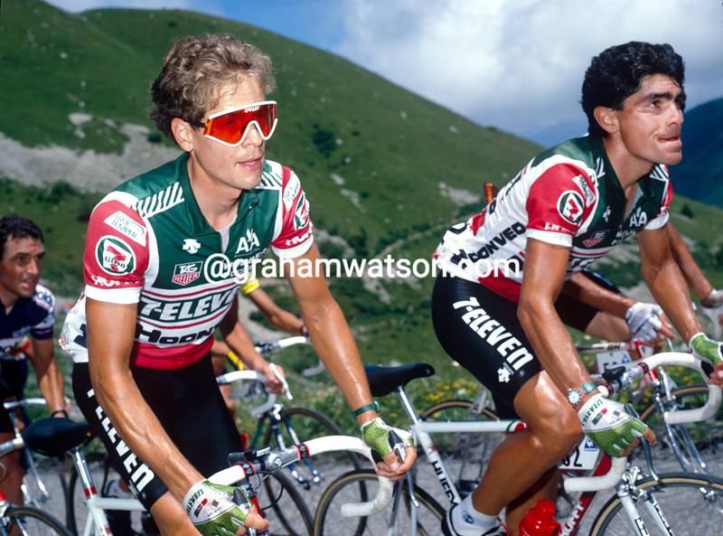 Andy Hampsten and Raul Alcala in the 1990 Tour de France