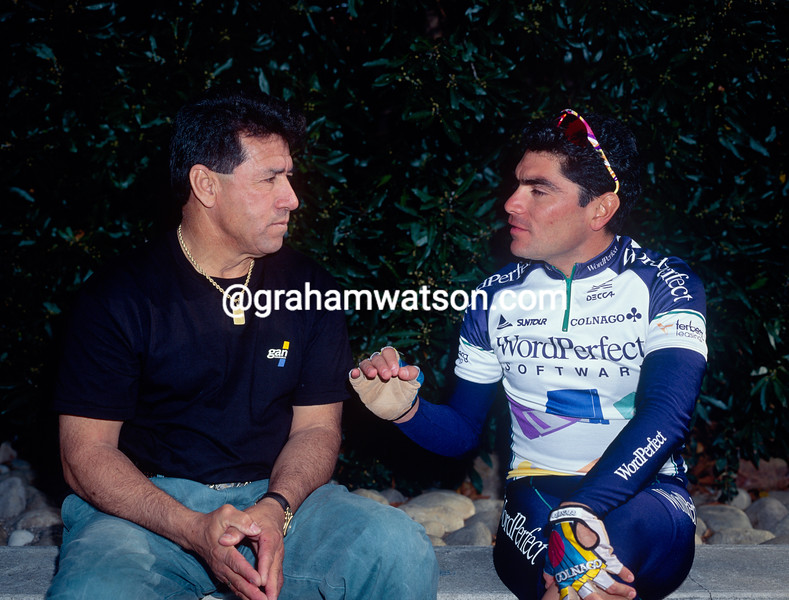 Raul Alcala with Otto Jacombe in the 1993 Tour de France