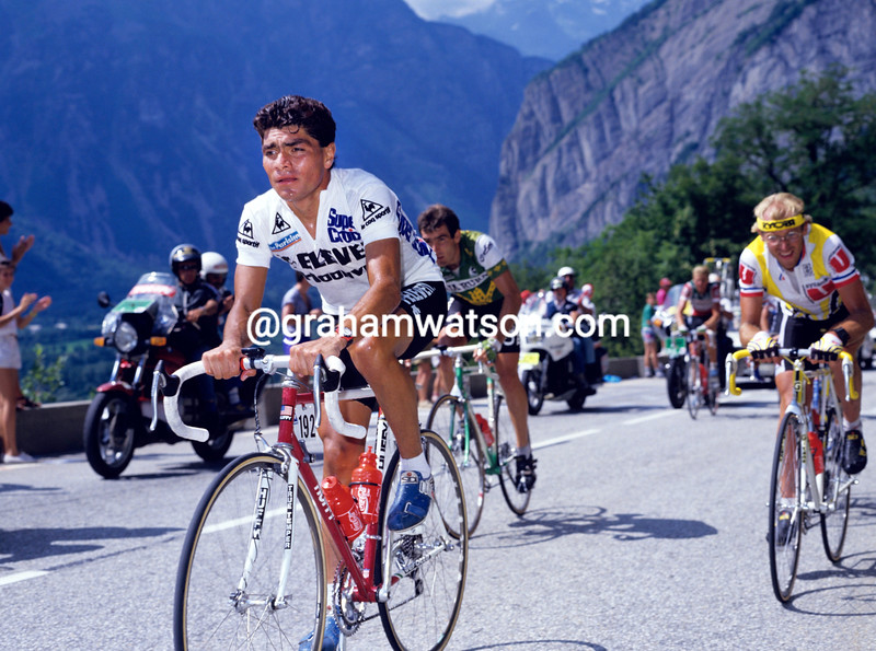 RAUL ALCALA IN THE 1988 TOUR DE FRAnce