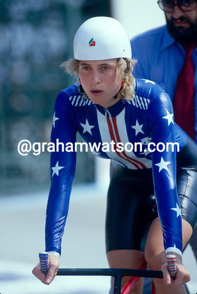 Rebecca Twigg in the 1985 World Championships