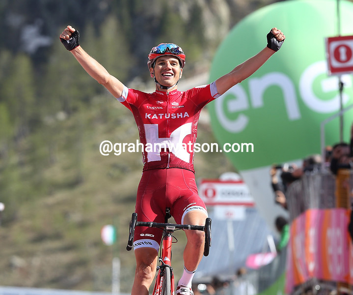 Rein Taaramae wins stage twenty of the 2016 Giro d'Italia