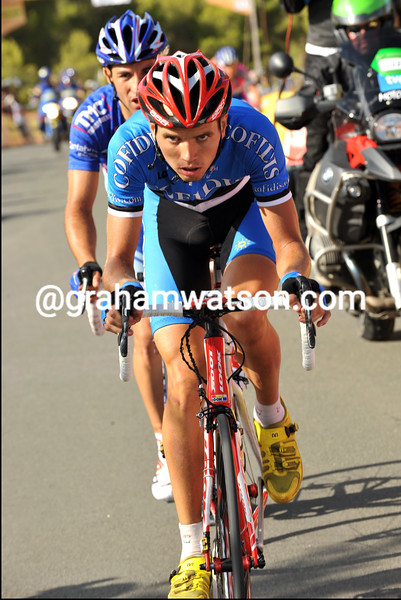 REIN TAARAMAE ON STAGE NINE OF THE 2009 TOUR OF SPAIN