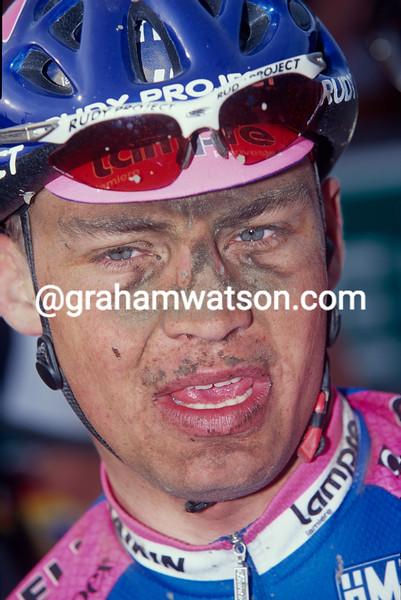 Robert Hunter after the 1999 Paris-Roubaix
