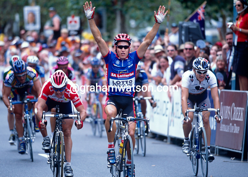 Robbie McEwen in the 2002 Tour Down Under