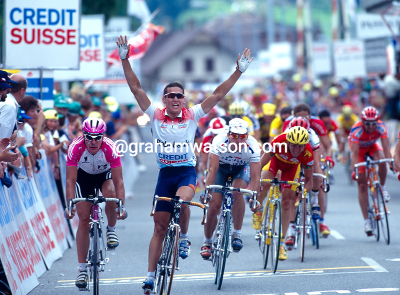 Robbie McEwen in the 1996 Tour of Switzerland