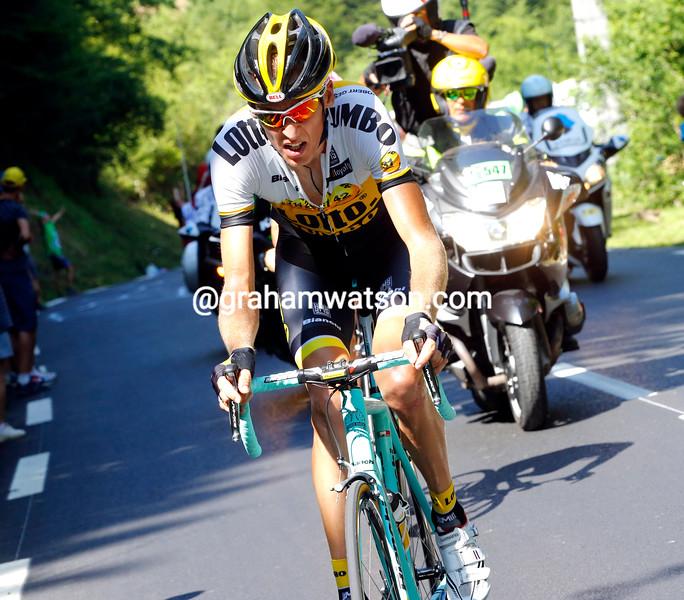 Robert Gesink on stage ten of the 2015 Tour de France