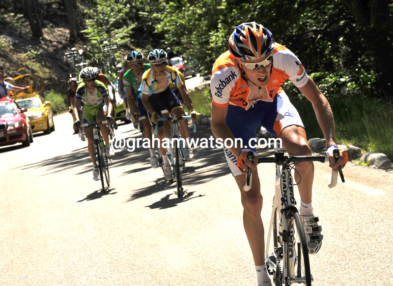 ROBERT GESINK ATTACKS ON STAGE FIVE OF THE 2009 DAUPHINE-LIBERE