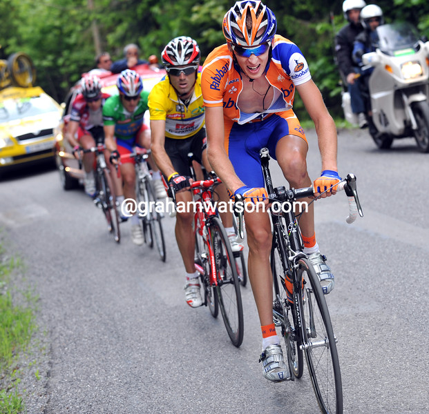 ROBERT GESINK LEADS AN ESCAPE ON STAGE FIVE OF THE 2008 DAUPHINE-LIBERE