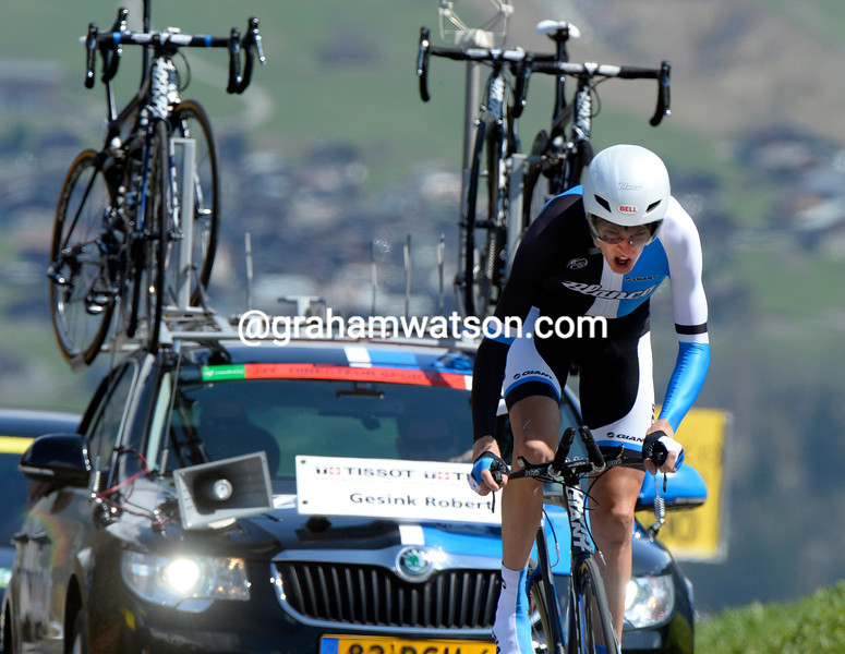 Robert Gesink in the Prologue of the 2013 Tour of Romandy