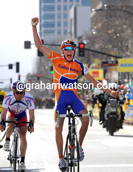 ROBERT GESINK wins STAGE THREE OF THE 2008 TOUR OF CALIFORNIA