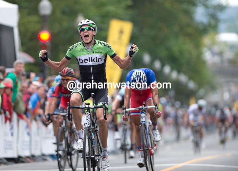 Robert Gesink wins the 2013 G. P. Quebec