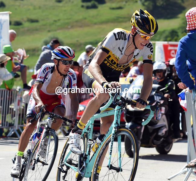 Robert Gesink on stage twenty of the 2015 Tour de France