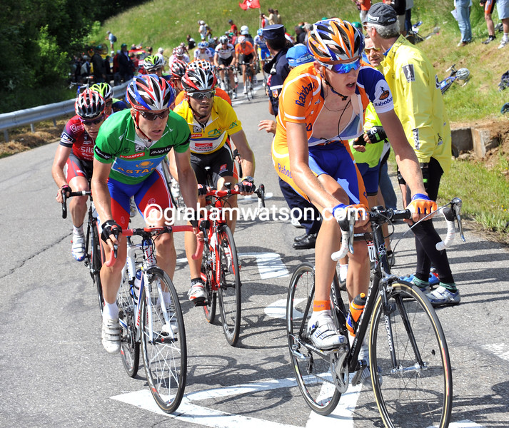 ROBERT GESINK CLIMBS THE MONT SALEVE ON STAGE FOUR OF THE 2008 DAUPHINE-LIBERE