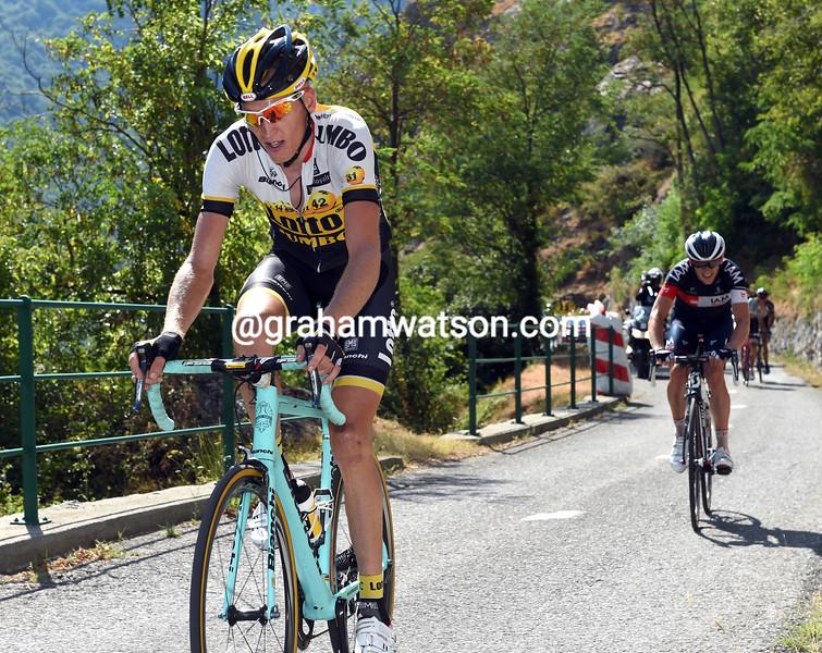 Robert Gesink on stage eighteen of the 2015 Tour de France