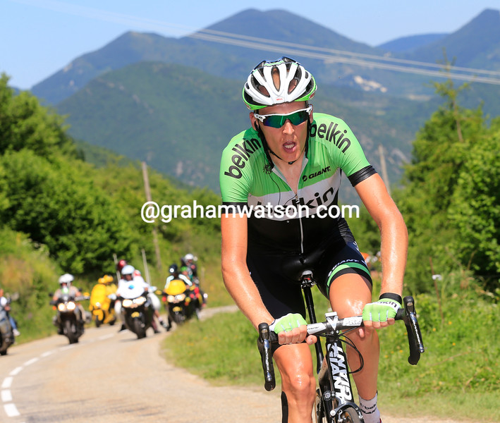 Robert Gesink in the 2013 Tour de France