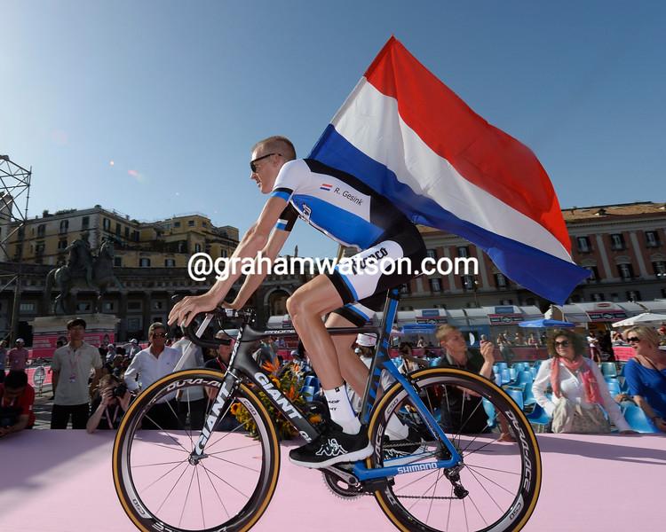 Robert Gesink at the 2013 Giro d'Italia team presentation