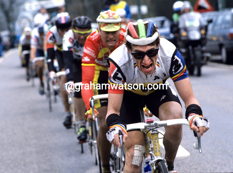 Robert Millar in the 1993 Liege-Bastogne-Liege